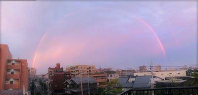 虹に祈りを・・・