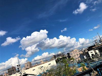 雲に乗って・・・